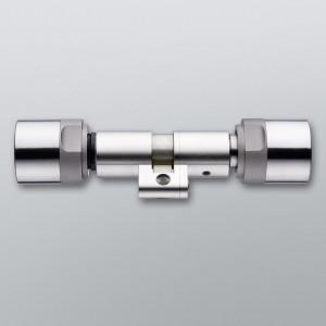 Cylindre électronique double à bouton Suisse